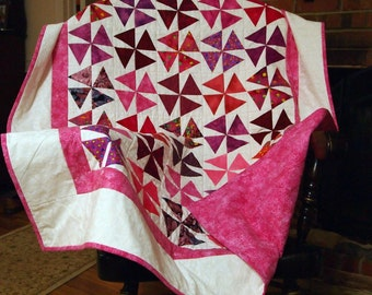 Shades of Pink to Red  Quilt