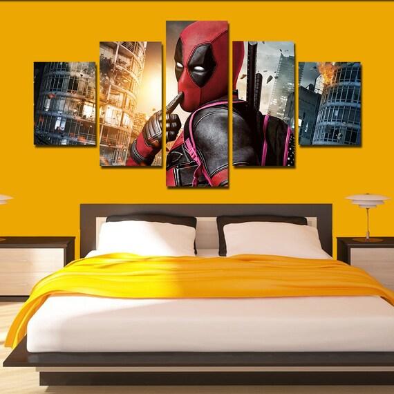 Deadpool Canvas Deadpool poster Deadpool print home art wall