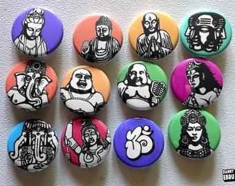Pick 3 - Danny Ebru button pin set