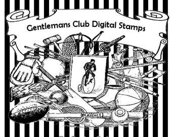 Gentlemans Club Digital Stamps