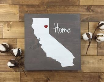Pick Colors   California Wood Sign   California sign   Painted   Wood sign   California Guest Book   California decor   California Home Sign