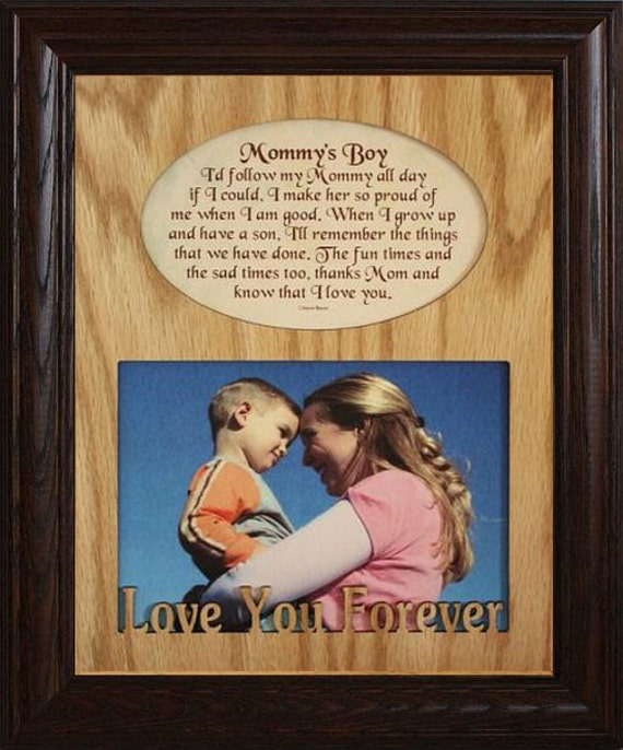 8x10 MOMMY\'S BOY/GIRL Laser & Poetry Picture Frame ~ Mommy Gift from ...