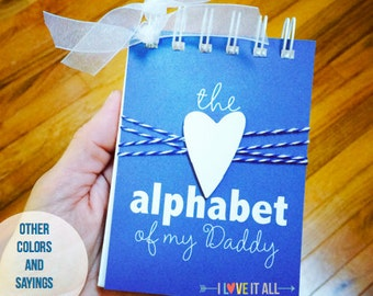 Gift for Daddy and Mommy, Alphabet of Our Dad Grandpa Papa,Deployment Gift, Birthday Gift , ABC Album, I Love Mommy, My Hero, Love Dad