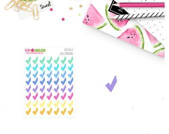 Mini Check Marks - PASTEL COLORS | 56 Kiss-Cut Stickers | IB025