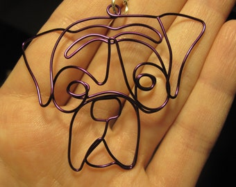 Wire Wrapped Boxer or Other Dog Pendant MADE to ORDER