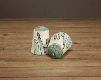 Cactus Garden Salt and Pepper Shakers| Garden Arts| Hip Home Decor|