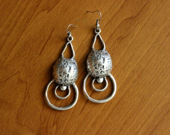 Ethnic Earrings, Antique Silver Boho Earrings, Bohemian Earrings, Kuchi Banjara Earrings, Afghan Earrings, Gypsy Earrings, Tribal Earrings