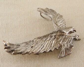 Silver Eagle Pendant Vintage Americana