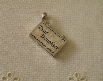 Silver Dear Daughter Pendant - Gift Mother's Day Birthday