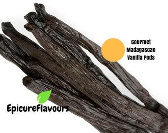Gourmet Grade Genuine Madagascan Vanilla Pods (Vanilla Beans)