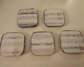 Sheet Music Magnets Set of Five