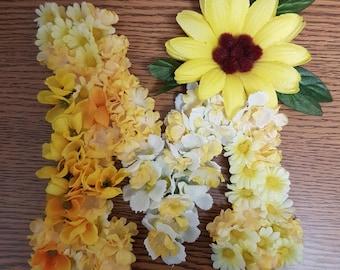 Silk Flowers embellished monogram