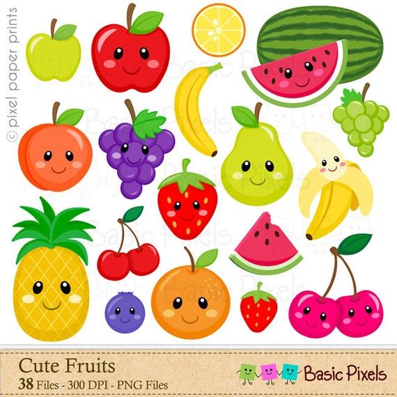 fruits clipart digital clip art fruit personal and rh etsy com fruit clip art pictures fruit clipart images