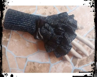 Steampunk bracelet, Gothic bracelet victorian, Lace wrist cuff gothic, Gothic watch-strap, complements of holiday