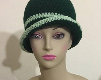 Handmade crochet multicolored bucket hat
