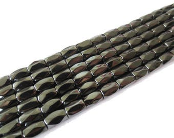 x 10 beads Hematite 5x8mm Magnetisee cylinder faceted