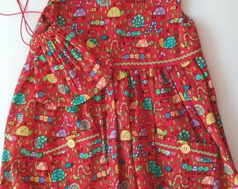 Wiggly Snails and Worms Toddler Dress and Purse