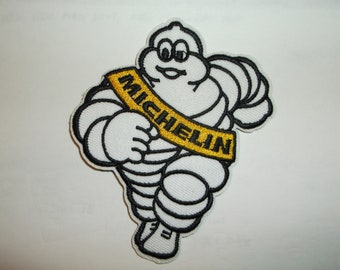 """Michelin Man Tire Tyre Patch~Badge~Mechanics~(3 1/2"""" x 3"""")~Embroidered Applique~Iron Sew On~US Seller~FREE US Mail~Intl +"""