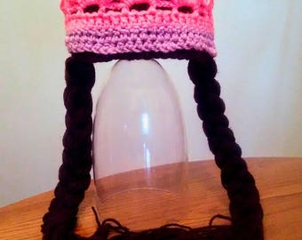 Princess crochet hat wig