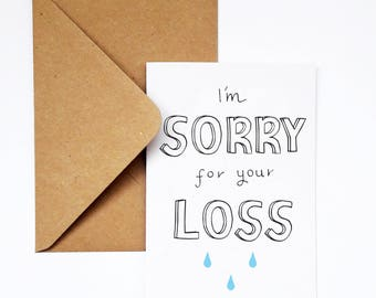 Sympathy card,I'm Sorry for your Loss,Grief card,Bereavement card,Sympathy Card for Friend,Empathy Card,Here for You,Supportive