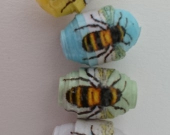 Handmade customised paper beads.
