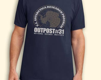 Outpost 31 US Antarctica Research Station USA Inspired. Male and Female T-shirt
