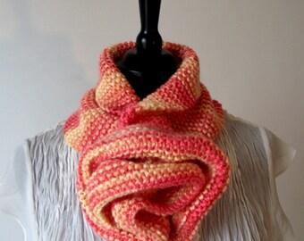 KNITTING PATTERN COWL scarf - Rose Cowl Pattern Instant Download Knitting pattern Instant Download Knitting Tutorial Woman Cowl Pattern
