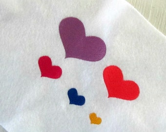 Mini Hearts Embroidery Design, Instant download, 5 sizes, filled stitch, machine embroidery, small embroidery designs