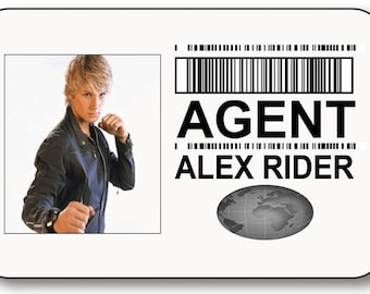 AGENT ALEX RIDER Safety Pin Fastener Name Badge Halloween Costume Prop