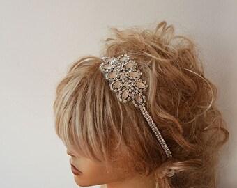 Headband, Rhinestone Headband, Bridal Headband, Wedding Hair Accessory,  Bridal Hair Accessories