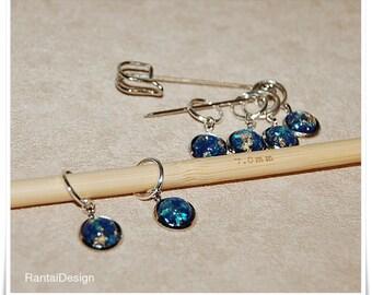 Stitch Markers for knitting Aurora Honeymoon Ring Stitchmarker Aurora
