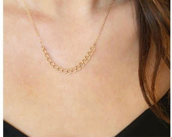 Curb Chain Necklace | Gold Filled Necklace | 14kt Gold Filled | Simple Chain Necklace