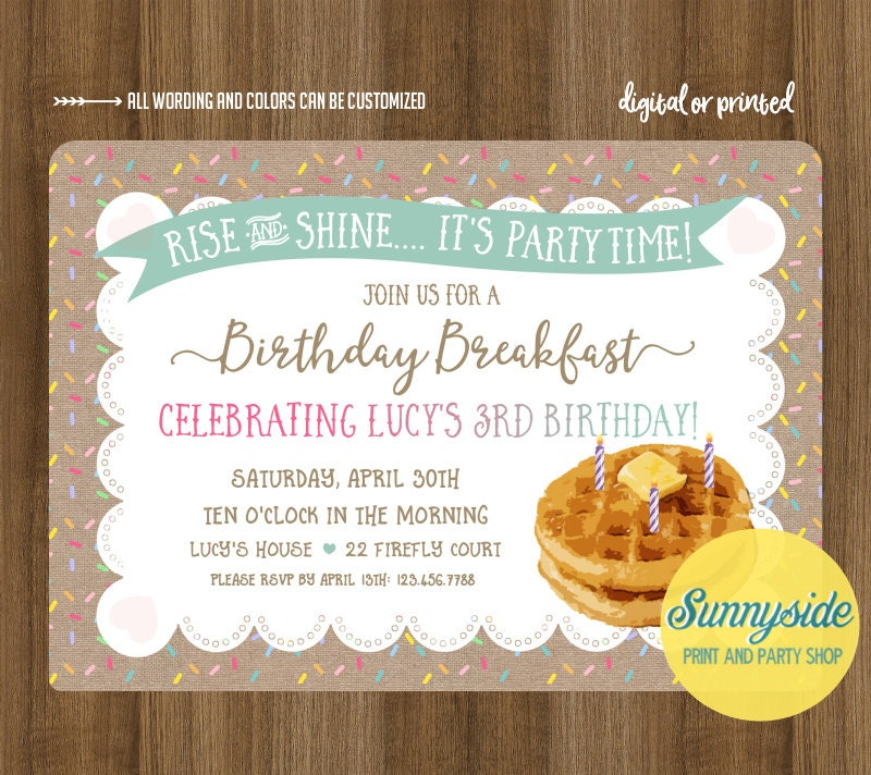 breakfast birthday party invitations koni polycode co