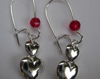 CLEARANCE Two Hearts Beat As One Earrings II
