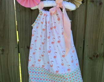 Coral Flamingo Pillowcase Dress