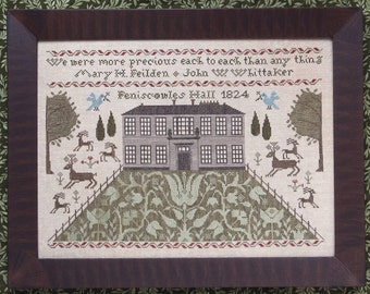 Feniscowles Hall 1824 : Cross Stitch Pattern by Heartstring Samplery