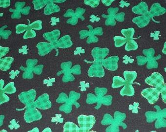 Plaid Green Shamrocks