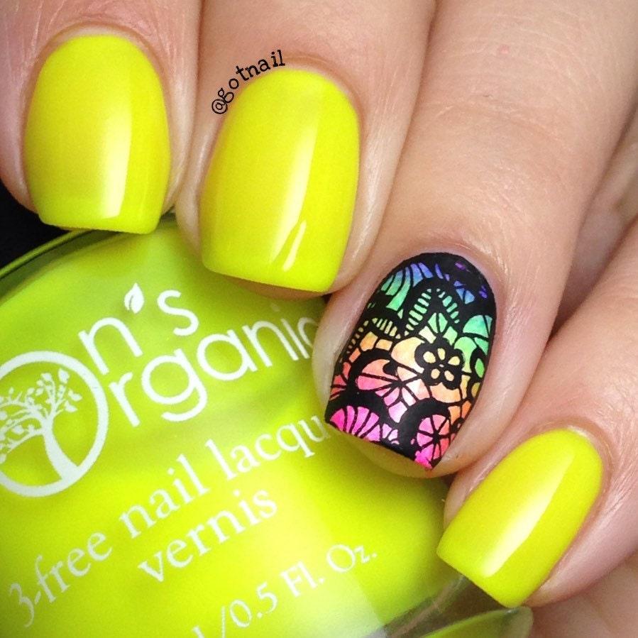 Fearless - 5 Free MATTE Neon Yellow Nail Polish - Glow-in-the-Dark ...