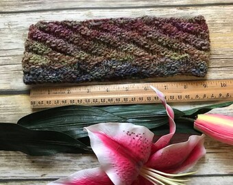 Knitted Headband/ Ear Warmer/ lightweight Turban/Fall color Hair Band/ Knit Fashion Accessory/ Cozy fall fashion/ handmade headband