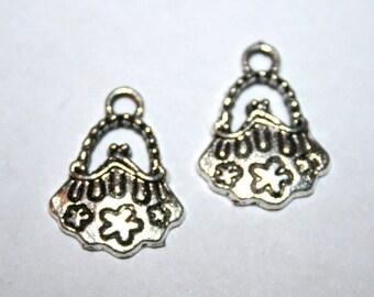 5 Tibetan Silver Purse Charms/Pendants CS-0018