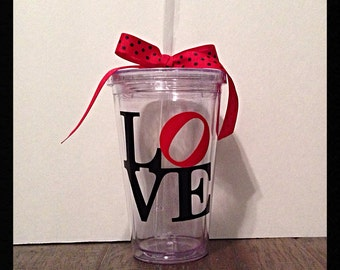 "SALE-  Valentine ""LOVE"" Tumbler"