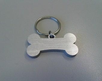 Targhetta collare del cane, osso con nome numero di telefono, gadget animali in alluminio