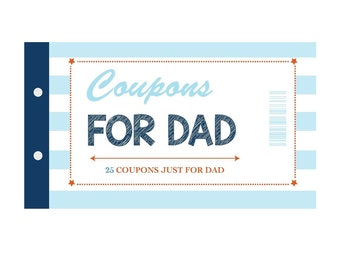 Coupons for Dad (25 High Quality Color Coupons)