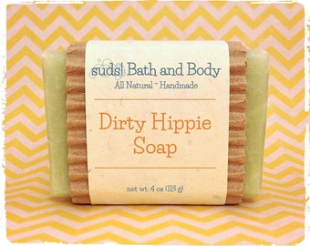 Dirty Hippie Soap - All Natural Soap, Handmade Soap, Vegan Soap, Patchouli Soap, Made in Minnesota