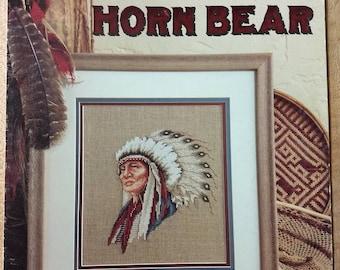 Vintage native American cross stitch