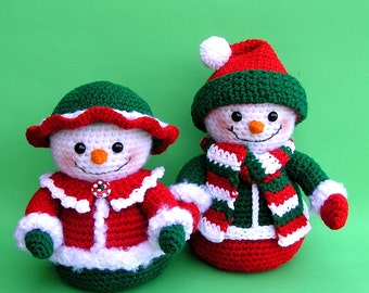 PDF Crochet Pattern Mr and Mrs WINTERS Snowmen (English only)