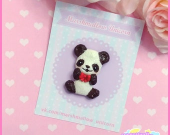 Little Panda brooch cute and kawaii