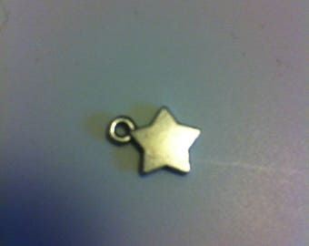 set of 5 charm pendant shaped star silver-plated 1x1cm