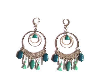 Earrings graphic jewelry creator - sequins
