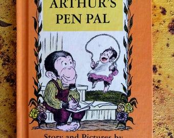 1970s children's book, Arthur's Pen Pal, hardback, MINT condition